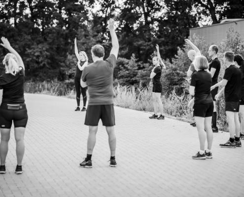 WOEST Training hardloopcursus warming up